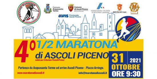 Mezza Maratona di Ascoli Piceno 31102021 locandina