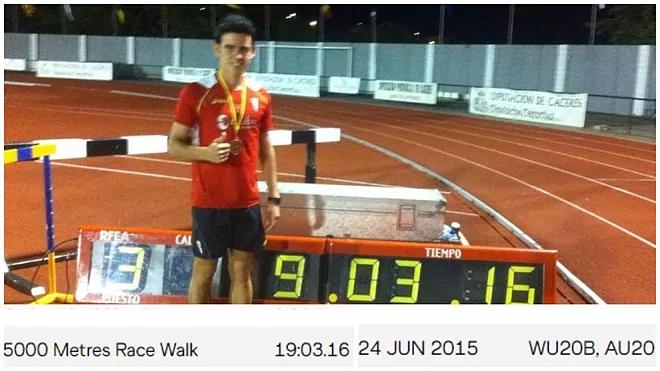 Marcia: García Carrera scopre di avere un record mondiale... dopo sei anni!
